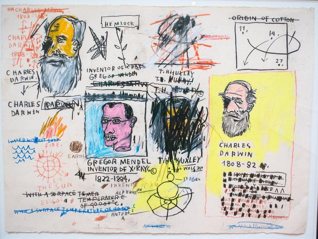 Charles Darwin 1983 by Jean-Michel Basquiat